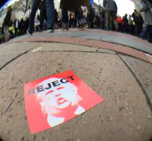 photo of protest sign on the ground