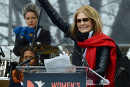 Ms. magazine founder and ctivist Gloria Steinem speaks during the Women's March on Washington on Saturday, Jan. 21, 2017. (Courtesy Shannon Finney)