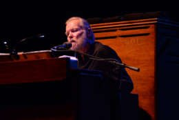 Music legend Gregg Allman performs at Hard Rock Live! in the Seminole Hard Rock Hotel & Casino on January 4, 2015 in Hollywood, Florida. Allman, organist and singer for The Allman Brothers Band, died Saturday. (Photo by Jeff Daly/Invision/AP)