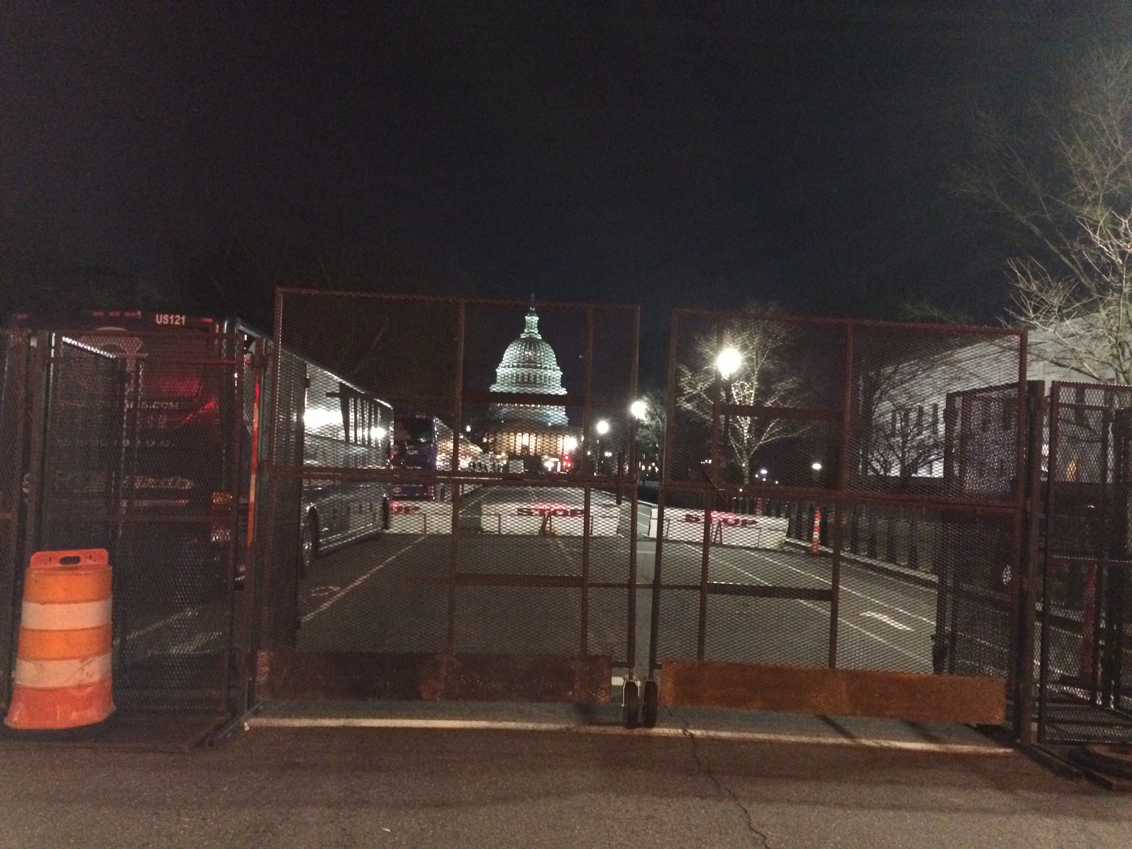 Many roads around the capitol are closed today in light of Inauguration Day activities. (WTOP/Nick Iannelli)