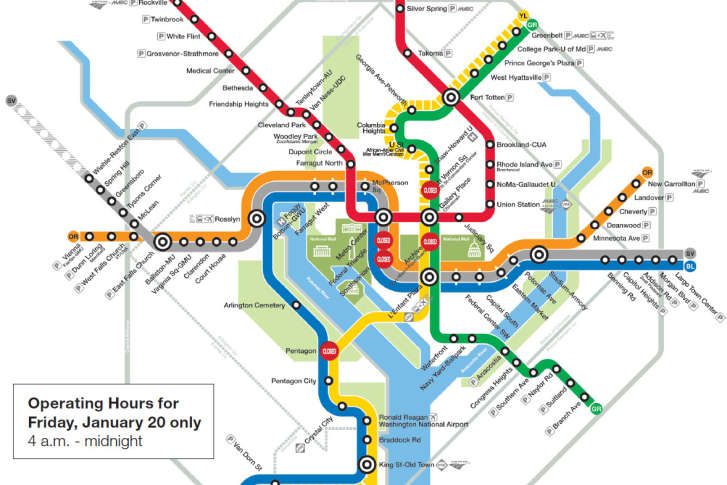 Metro riders urged to plan routes for Inauguration Day | WTOP