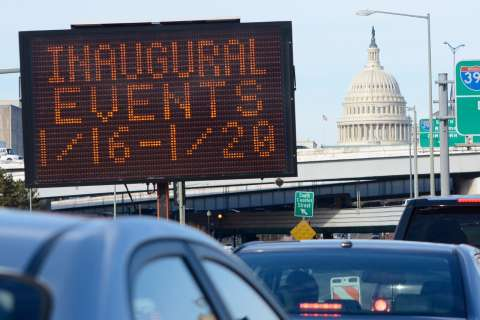 Inaugural road closures: What's closed when?