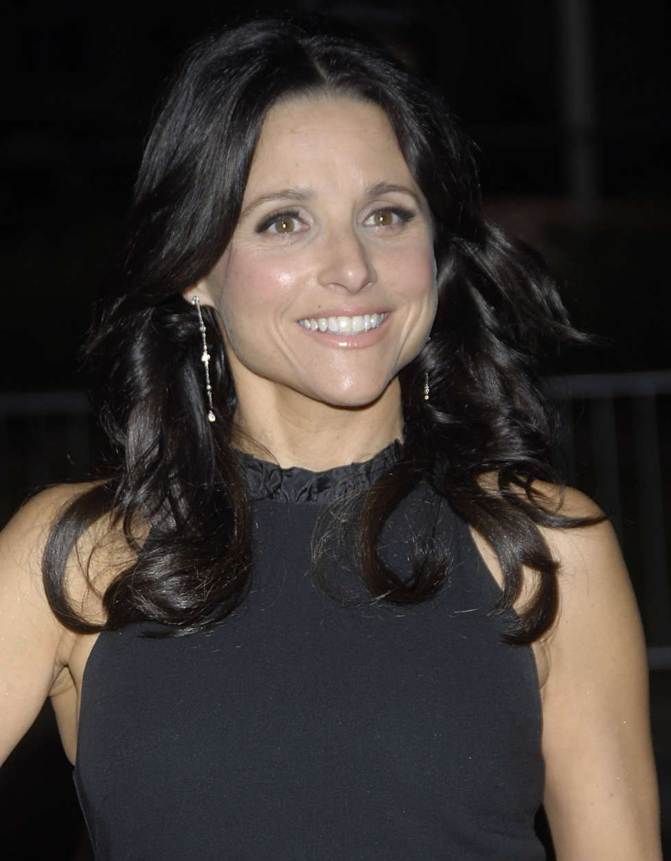 Actress Julia Louis-Dreyfuss poses on the press line at the 18th annual Environmental Media Awards benefiting the Environmental Media Association in Los Angeles on Thursday, Nov. 13, 2008. (AP Photo/Dan Steinberg)
