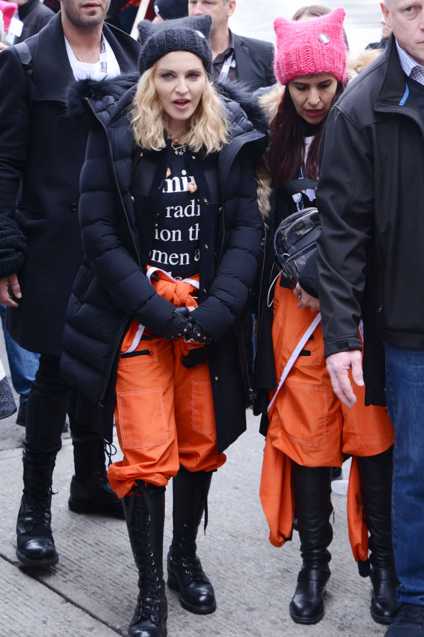 Singer Madonna was one of the performers during the Women's March on Washington on Saturday, Jan. 21, 2017. (Courtesy Shannon Finney)
