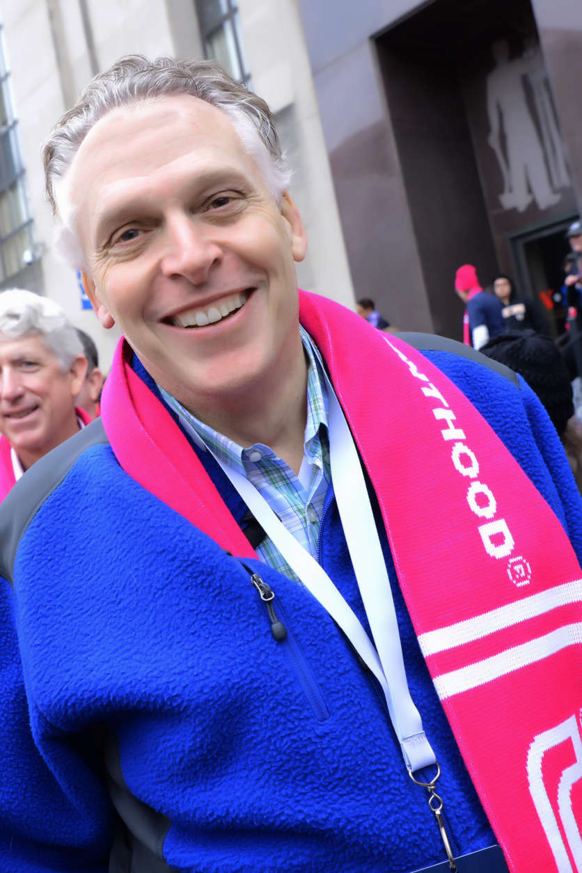 Governor of Virginia Terry McAuliffe attends the Women's March on Washington on Jan. 21, 2017. (Courtesy Shannon Finney)