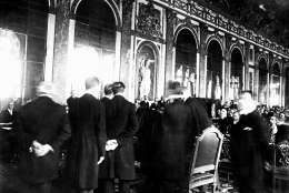 Treaty of Versailles, 1919 in France. (AP Photo)