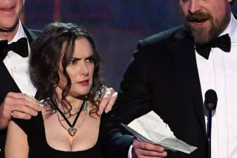 The many faces of Winona Ryder at SAG Awards spark Monday meme storm