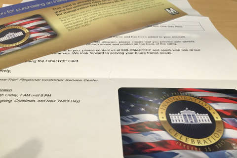 Some Inauguration Day Metro passes mailed out after the inauguration