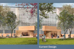 This is another view of how the change in the tapestry image changes the memorial's overall look. (Courtesy National Capital Planning Commission)