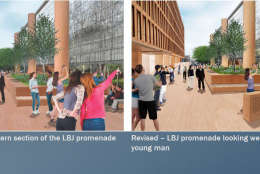 It is proposed the statue sit outside the memorial park looking towards the entrance. (Courtesy National Capital Planning Commission)