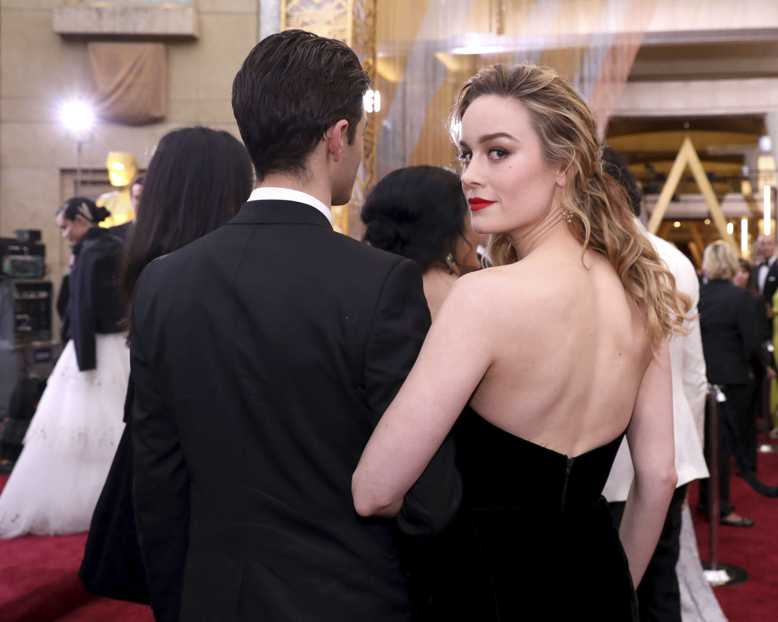 Brie Larson arrives at the Oscars on Sunday, Feb. 26, 2017, at the Dolby Theatre in Los Angeles. (Photo by Matt Sayles/Invision/AP)