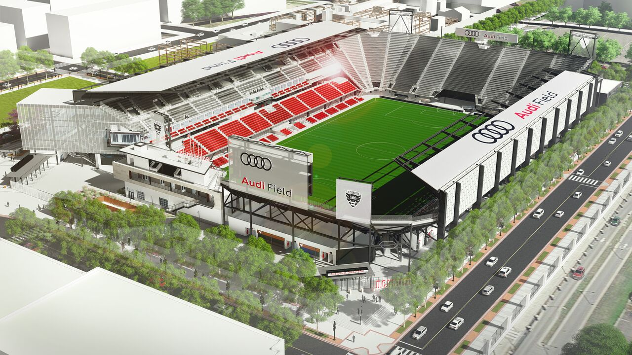Picture of what DC United's stadium will look like