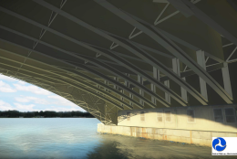 A rendering of the plan for the rehabilitation of the Arlington Memorial Bridge. (Courtesy National Park Service)