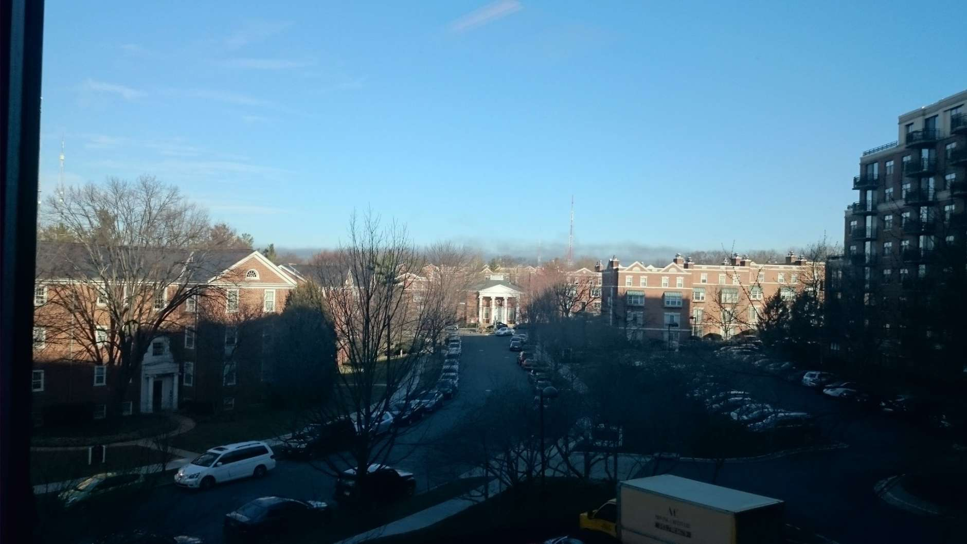 The smoke was visible from WTOP studios in D.C. (WTOP/Dennis Foley)