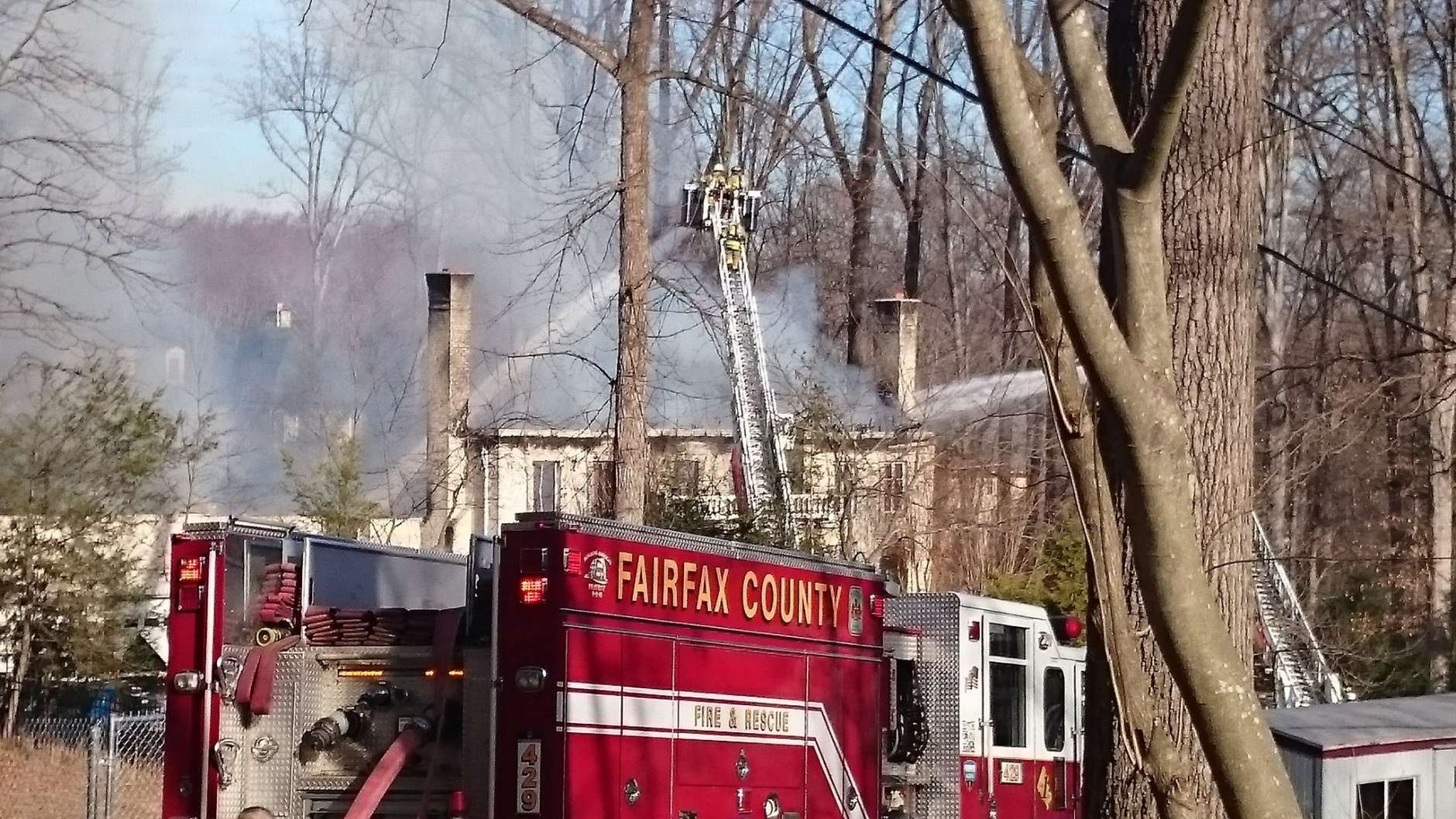 Not much left of the McLean, Virginia home consumed by fire, WTOP's Dennis Foley reports. (WTOP/Dennis Foley)