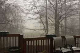 View of the hailstorm in Waldorf, Maryland. (Courtesy @CammyRoss via Twitter)