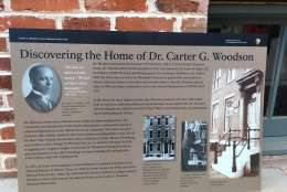 """As Black History Month concludes, first-phase renovations are wrapping up at the home and office of Carter G. Woodson, the man who is considered """"The father of African American history."""" (WTOP/Liz Anderson)"""