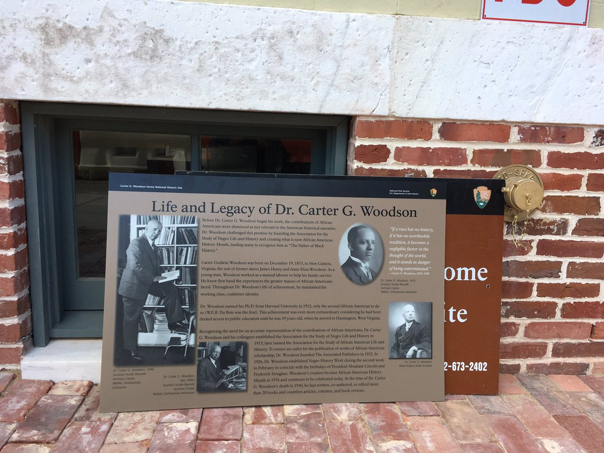Carter G. Woodson was instrumental in establishing Negro History Week in 1926, which is a precursor to Black History Month. (WTOP/Liz Anderson)