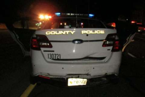Driver charged with DUI after Montgomery Co. police cruiser struck