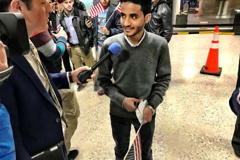 Barred travelers arrive at Dulles: 'America is for everybody'