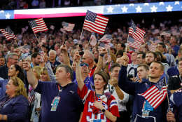 HOUSTON, TX - FEBRUARY 05:  Fans wave American Flags during the National Anthem prior to Super Bowl 51 between the Atlanta Falcons and the New England Patriots at NRG Stadium on February 5, 2017 in Houston, Texas.  (Photo by Kevin C. Cox/Getty Images)
