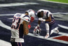HOUSTON, TX - FEBRUARY 05: Patrick Chung #23 of the New England Patriots takes a moment prior to Super Bowl 51 against the Atlanta Falcons at NRG Stadium on February 5, 2017 in Houston, Texas.  (Photo by Patrick Smith/Getty Images)