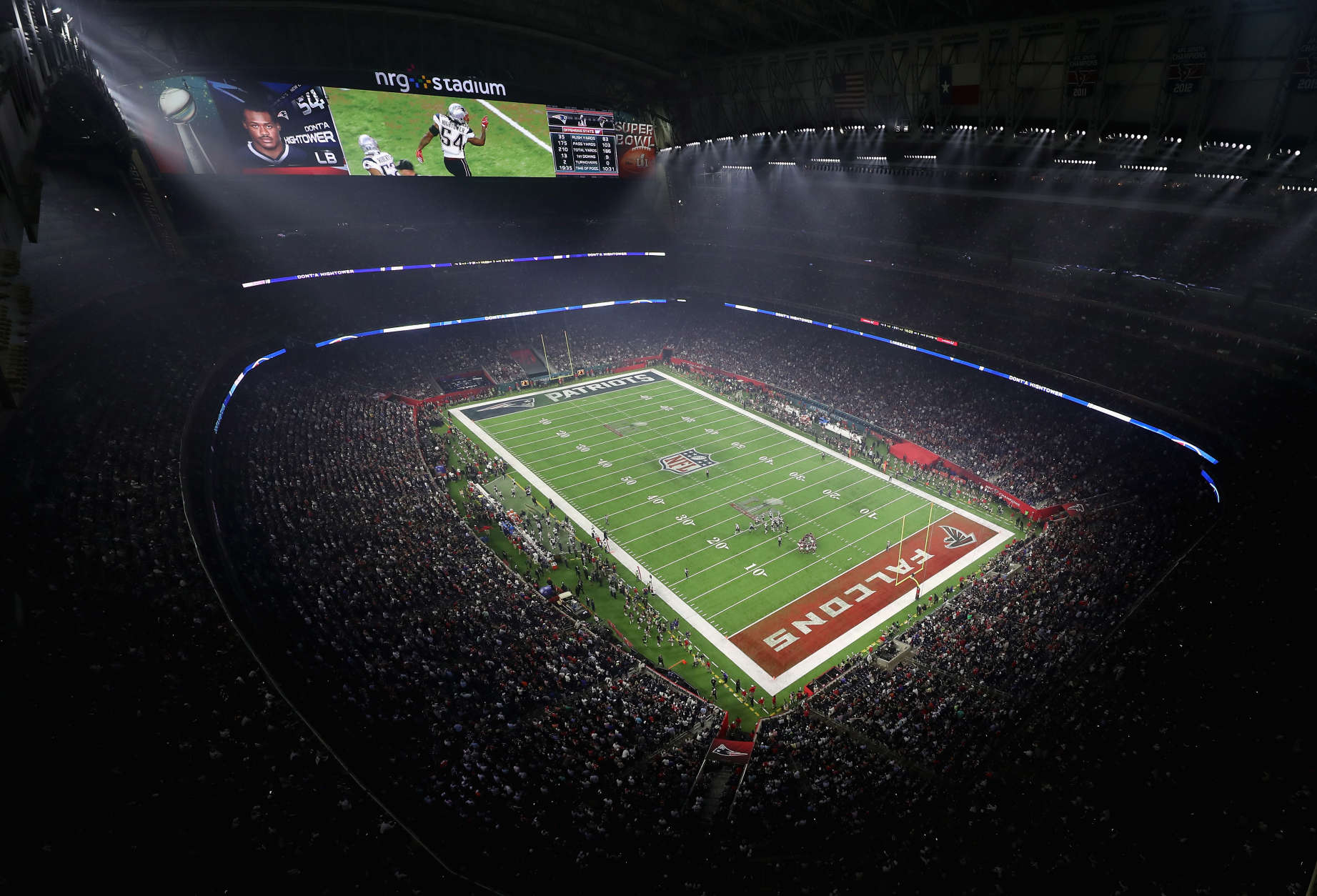 HOUSTON, TX - FEBRUARY 05:  A general view of the field at the start of the second half during Super Bowl 51 between the New England Patriots and the Atlanta Falcons at NRG Stadium on February 5, 2017 in Houston, Texas.  (Photo by Tom Pennington/Getty Images)