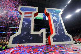 HOUSTON, TX - FEBRUARY 05:  Confetti falls after the New England Patriots defeated the Atlanta Falcons 34-28 during Super Bowl 51 at NRG Stadium on February 5, 2017 in Houston, Texas.  (Photo by Kevin C. Cox/Getty Images)