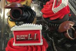 Cupcakes are a fun alternative to bring to a Super Bowl party, especially if they're decorated with fun toppers.