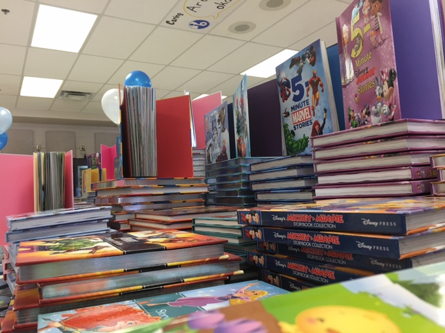 The book giveaway provided books to 300 children and 126 organizations. (WTOP/Jenny Glick)