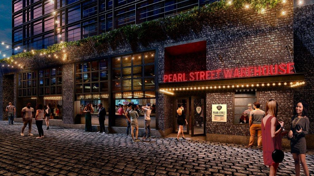 Pearl Street Warehouse, a live music venue, bar and cafe that will be part of The Wharf's pedestrian-only Pearl Street, says it will open in October, coinciding with the grand opening of the Southwest Waterfront development. (Courtesy Pearl Street Warehouse)