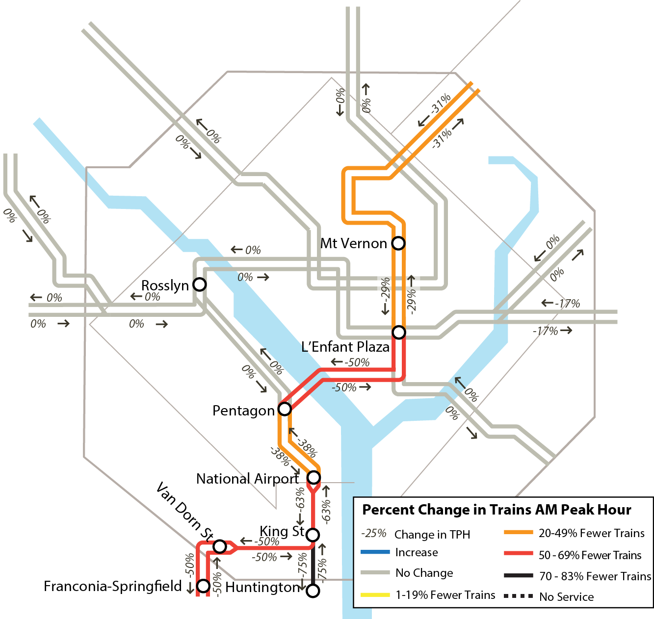 The second phase of the 13th Metro track-work surge. (Courtesy WMATA)