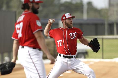 First Spring Training workout brings worry about Scherzer