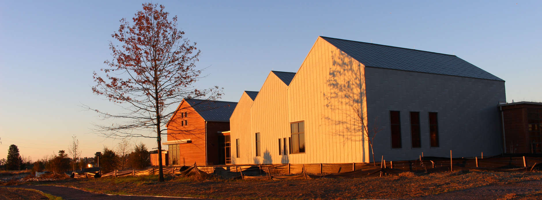 A view of the Harriet Tubman Underground Railroad Visitors Center. (NPS Photo/Beth Parnicza)