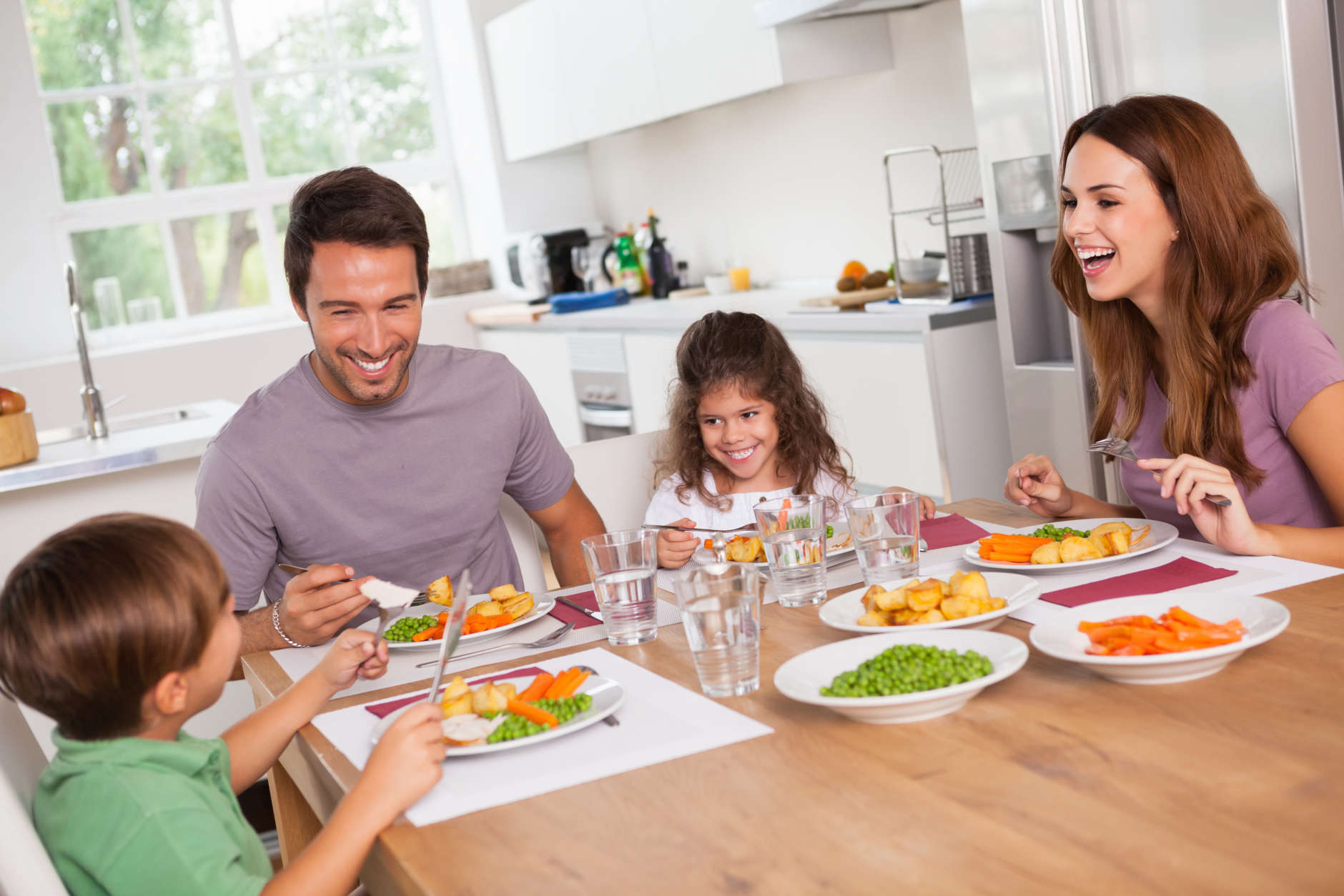 "<p><b>Have a regular meal where the family sits down and eats together </b></p> <p><span style=""font-weight: 400;"">""That doesn't mean every breakfast, lunch and dinner needs to be this whole ordeal,"" Shapiro said. ""But at least every day, for dinner, we still sit down together. Or, even if it&#8217;s just twice a week or on the weekends, we can treat eating not only as a means to an end, but also as a social experience and take a break, and remove the distractions of the electronics and the work and just focus on the food and the conversations.""</span></p> <p>It can also be a chance to introduce new foods. Baraban said her brother never liked salmon, but throughout the pandemic, she has been preparing it for her family. Now, he likes it.</p> <p>The dietitians said children need to be presented with a food item multiple times before they really can say if they dislike it.</p> <p><span style=""font-weight: 400;"">&#8220;Don&#8217;t give up,&#8221; Mohning said. &#8220;If they didn&#8217;t like something at age 5 they may like it at age 10. Especially vegetables. As they&#8217;re developing, their taste buds change a lot.&#8221;</span></p>"
