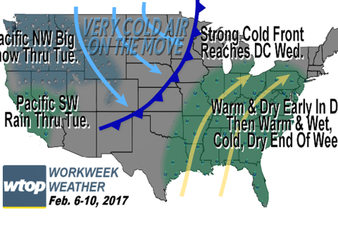 Workweek weather: Potential record warmth followed by cold shot