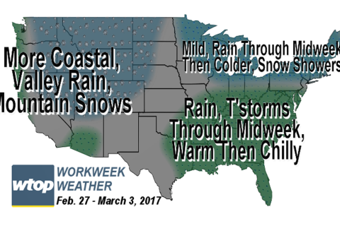Workweek weather: Warmth rolls in again with rain chances