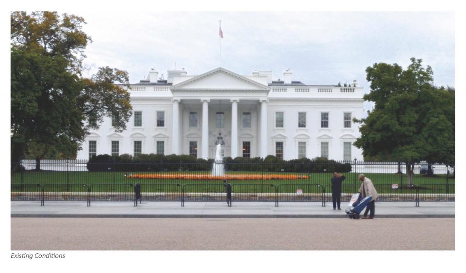 This photo of the current fence was provided for comparison's sake. (Courtesy National Capital Planning Commission)