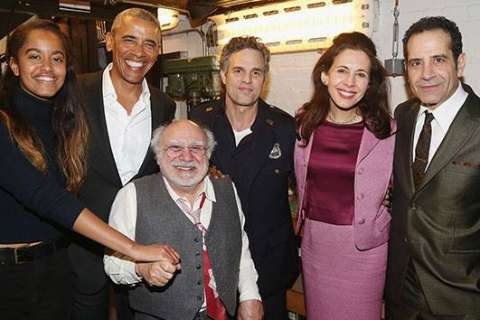 Barack Obama and daughter Malia attend 'The Price' on Broadway