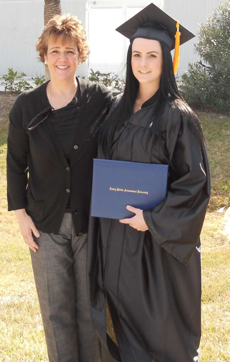 Ashley Guindon, right, at her graduation. (Courtesy Stephanie Guindon)