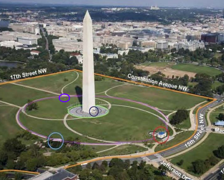 This is an aerial view of what the plans are for the Washington Monument. (Courtesy National Capital Planning Commission)