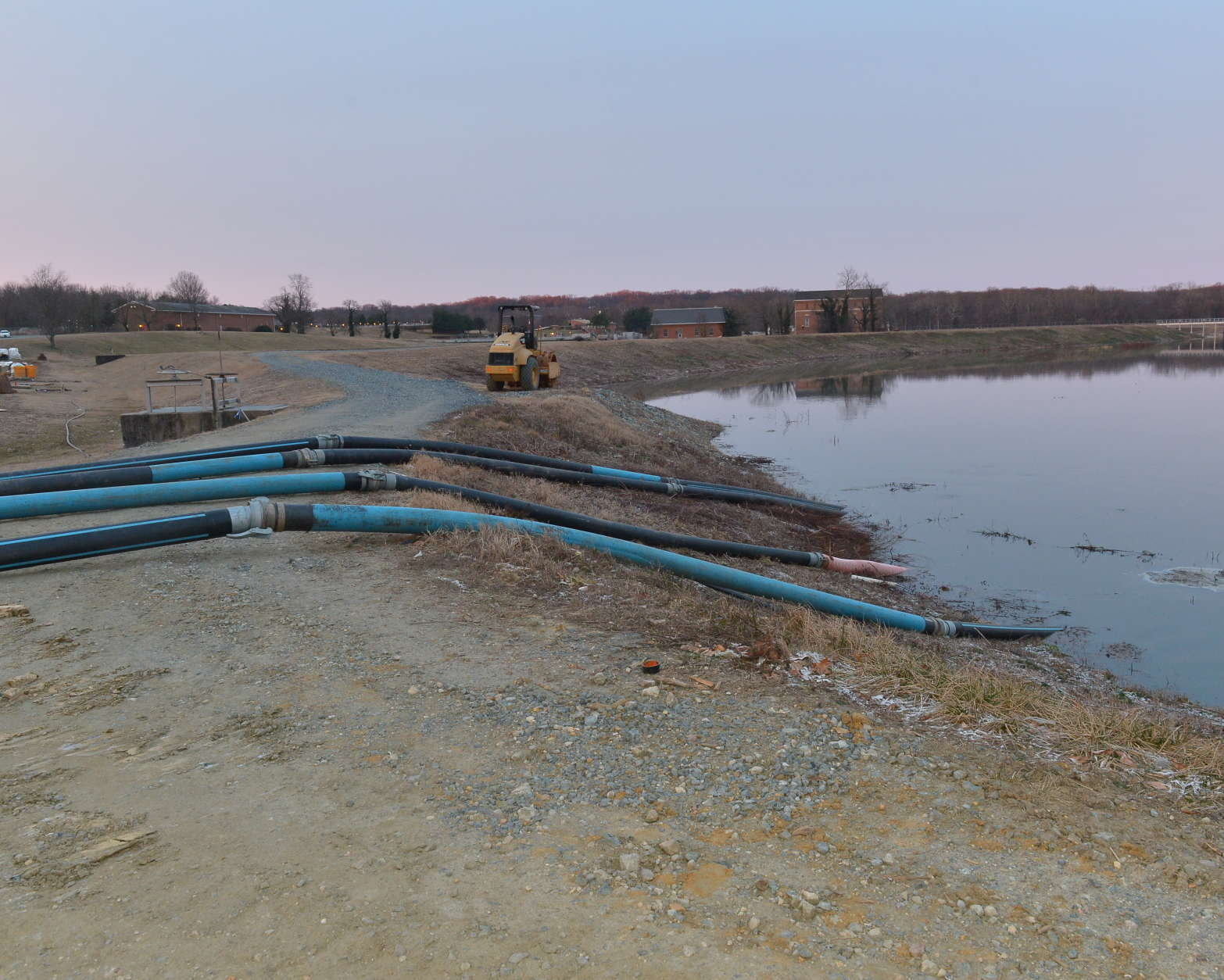 A look at the temporary system the WSSC has established to move the raw sewage overflow. (Courtesy WSSC)