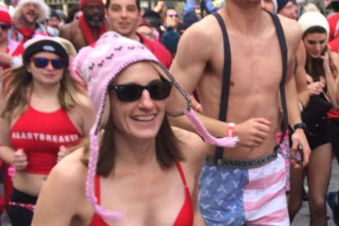 Undie Runners in DC shed outerwear for a good cause