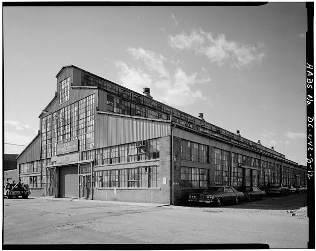 Navy Yard's Boilermakers Shop, in the Navy Yard Annex. Date not known. (Courtesy Library of Congress)
