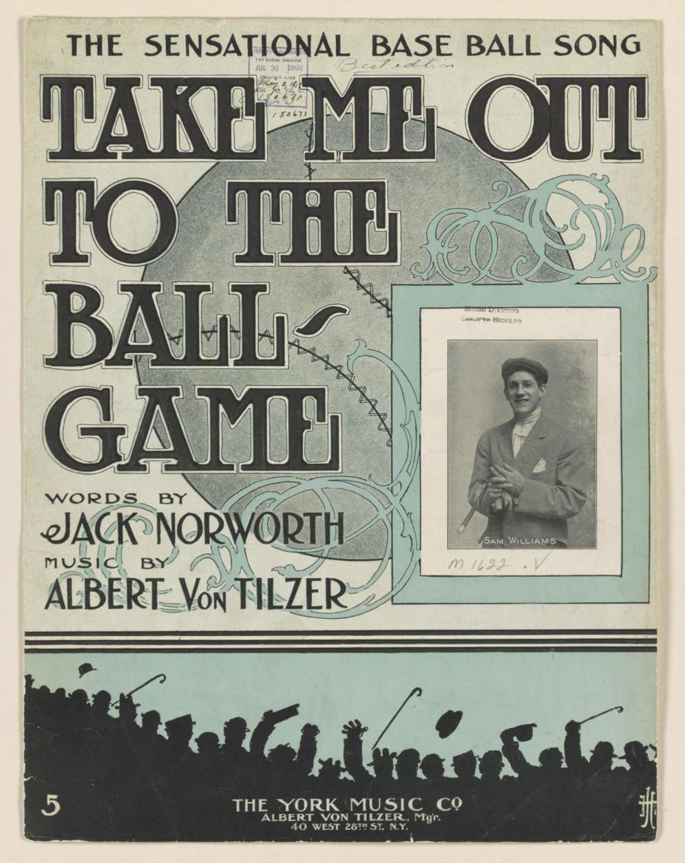 "The 1908 sheet music for ""Take Me Out to the Ball Game."" (Courtesy Library of Congress)"