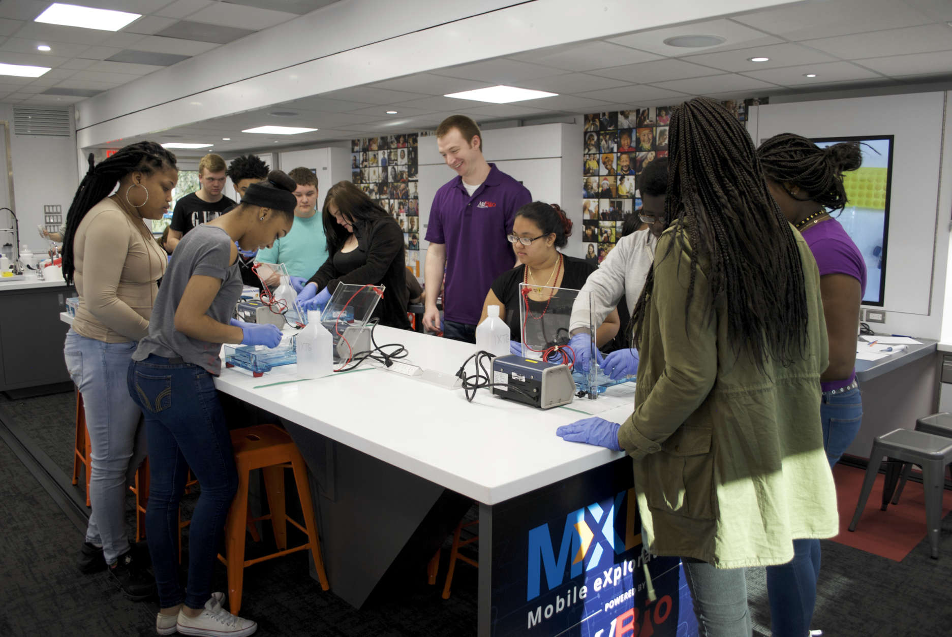 The goal of the trailer, according to MdBio, is to inspire students to pursue STEM careers. (Courtesy of MdBio Foundation)