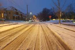 It's a quiet morning on the roads Tuesday in Northwest D.C. (WTOP/Will Vitka)