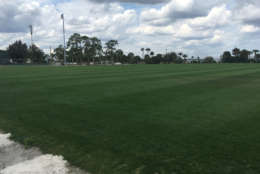 The multi-sport athletic field has allowed Historic Dodgertown to host football, lacrosse, soccer and rugby teams. (WTOP/Noah Frank)