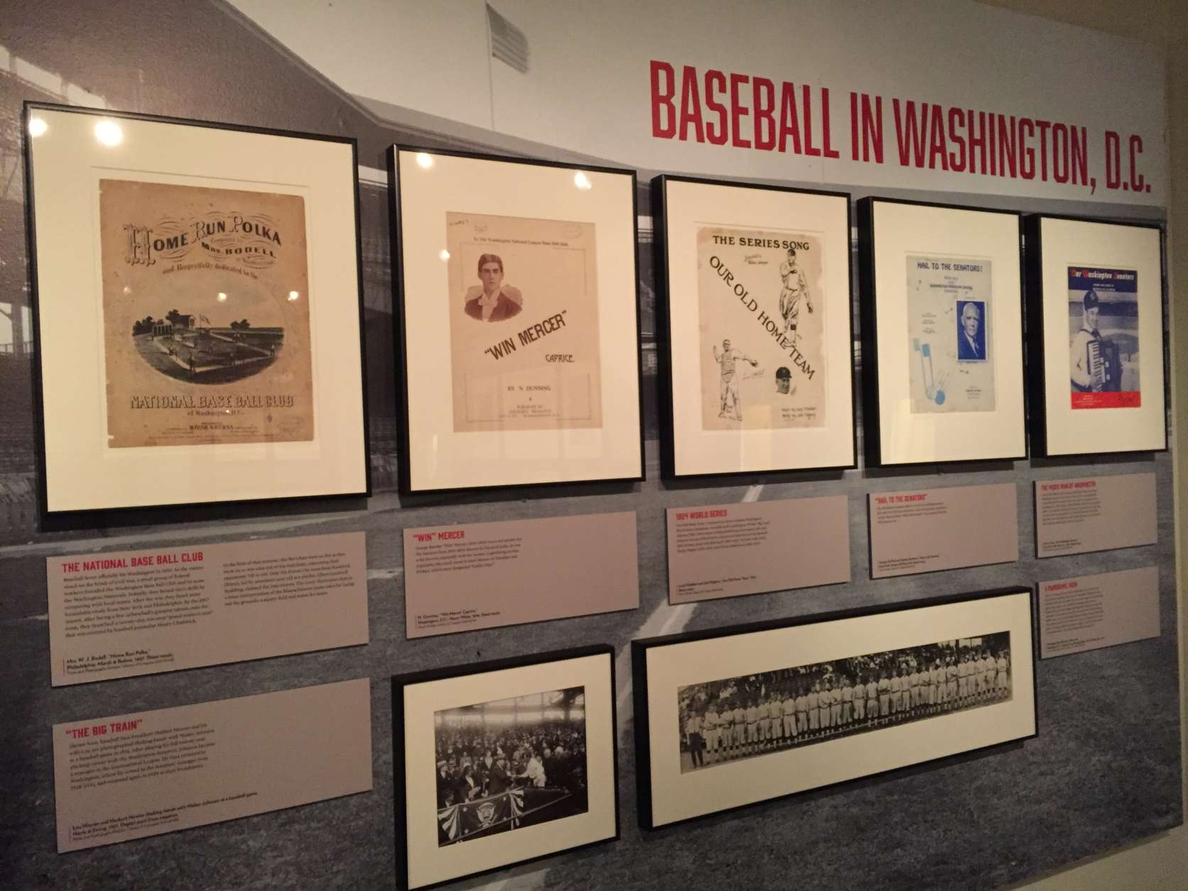 A display of songs about baseball in D.C. (Michelle Basch)