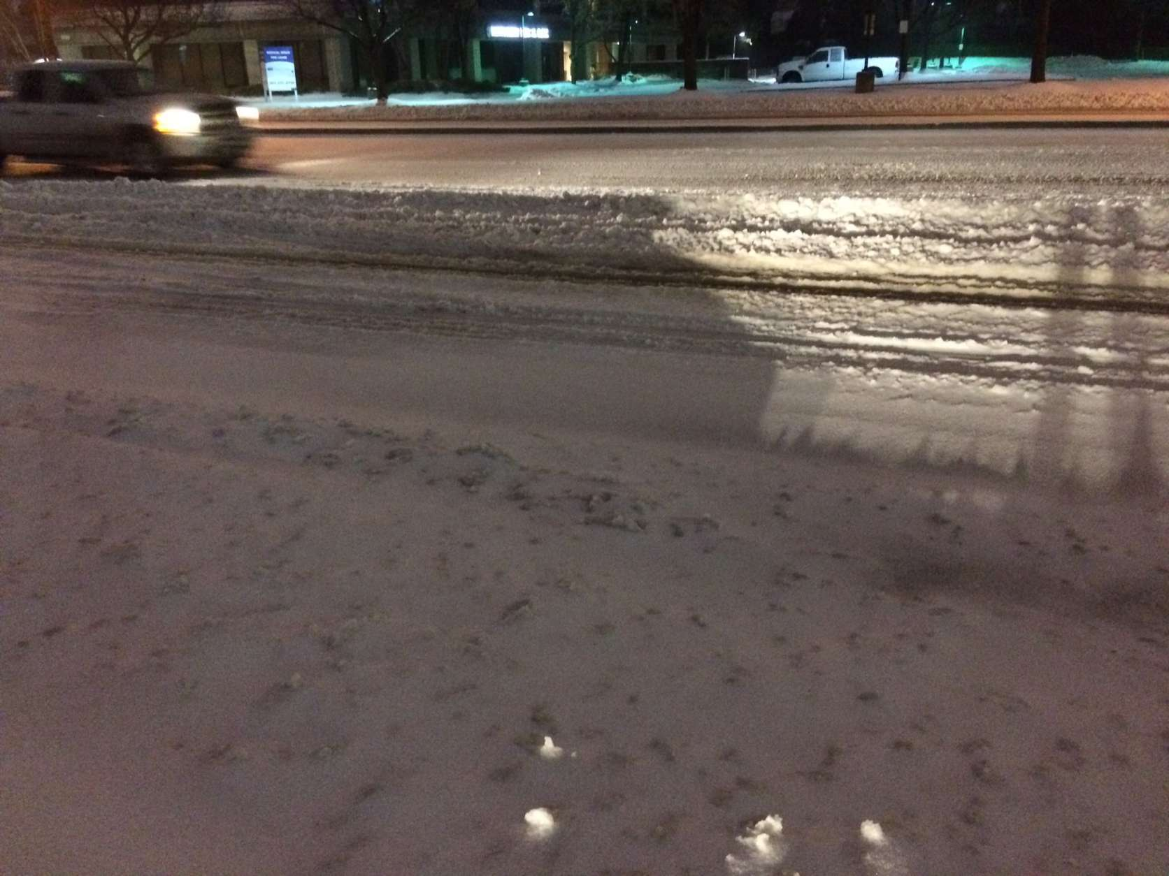 "Gaithersburg, Maryland, road conditions Tuesday morning are ""really quite awful,"" WTOP's Nick Iannelli said."